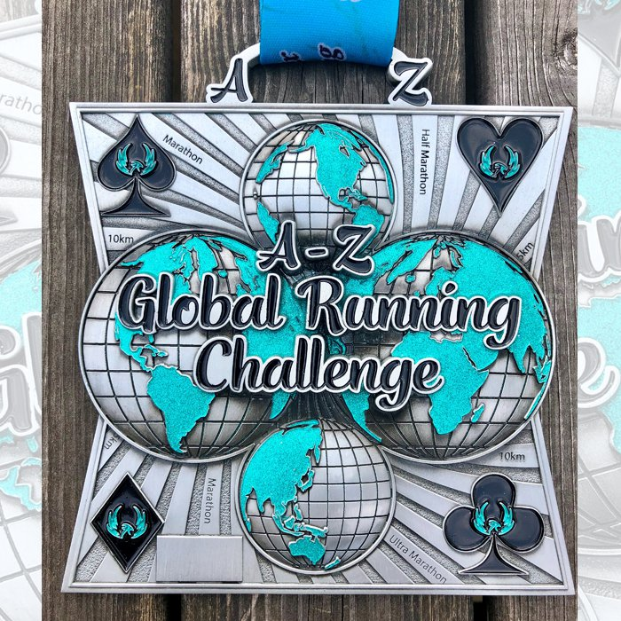 A-Z Global Running Challenge - Medal & Certificate