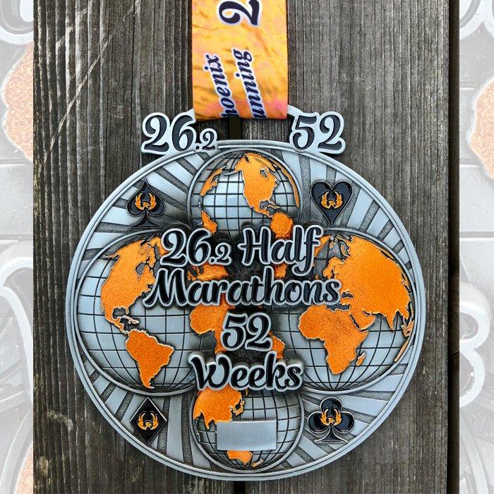 26 Half Marathons in 52 Weeks - Medal & Certificate