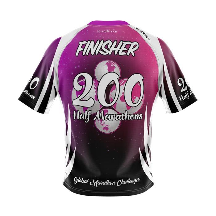 200 Half Marathons - Milestone T-Shirt