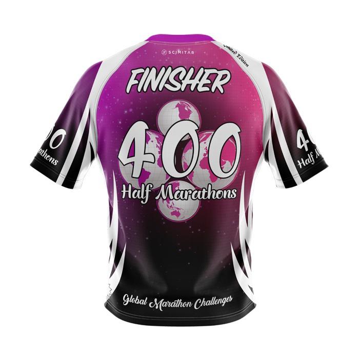 400 Half Marathons - Milestone T-Shirt