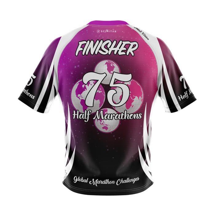 75 Half Marathons - Milestone T-Shirt