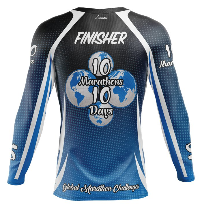 10 Marathons in 10 Days - Technical Long Sleeve Top