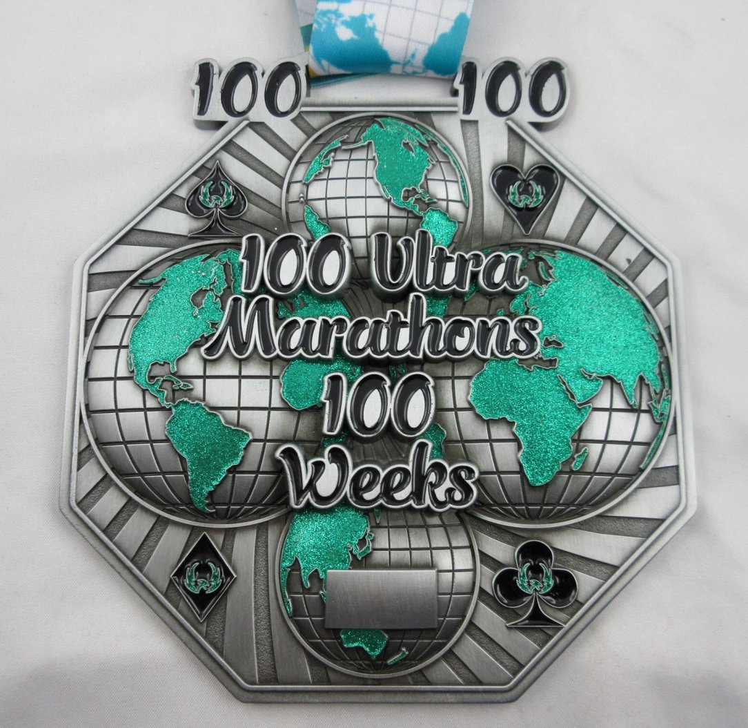 100 Ultra Marathons in 100 Weeks - Medal & Certificate