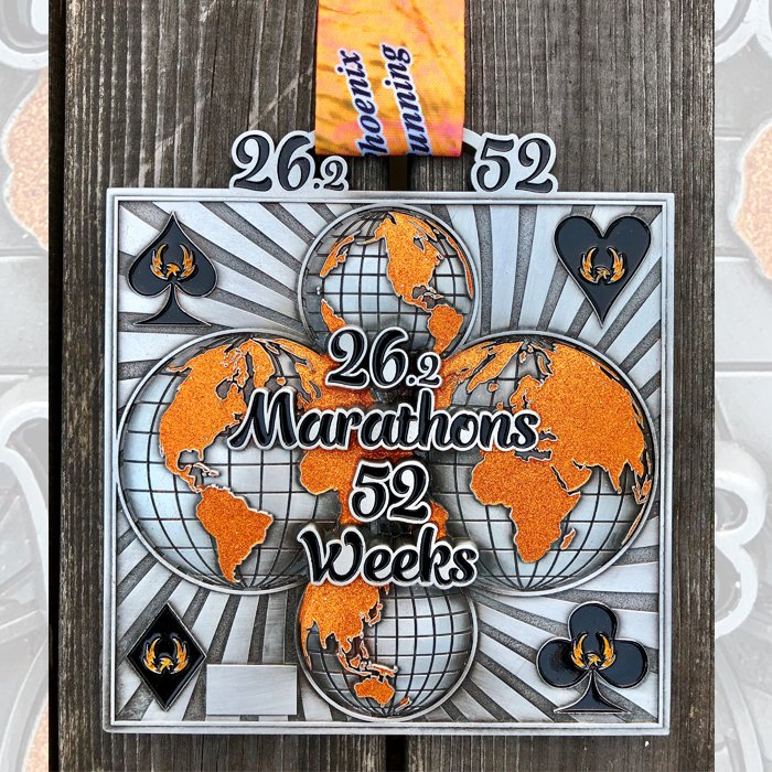 26 Marathons in 52 Weeks - Medal & Certificate