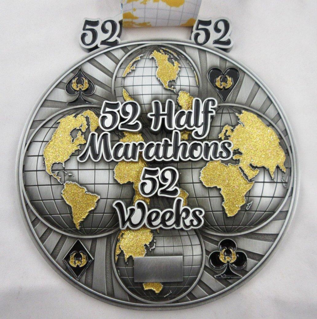 52 Half Marathons in 52 Weeks - Medal & Certificate