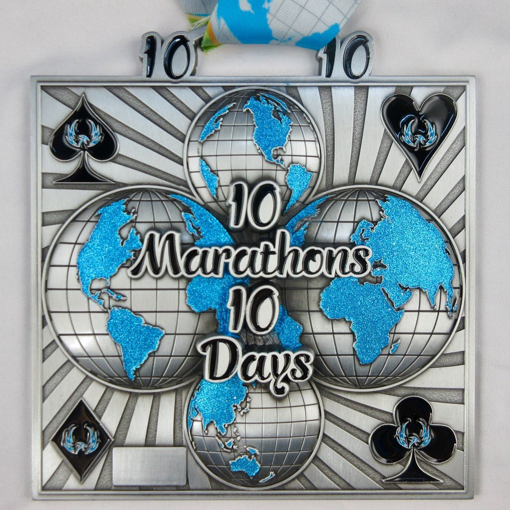 10 Marathons in 10 Days - Medal & Certificate
