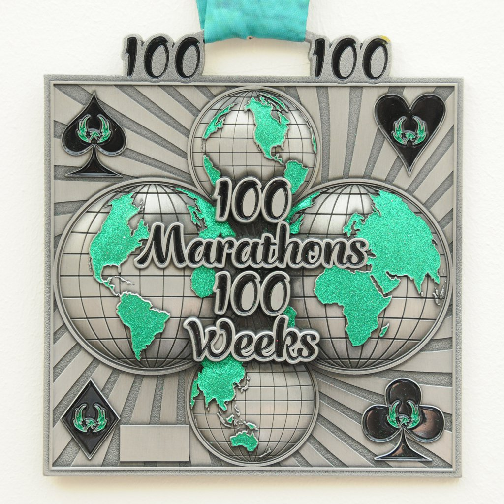 100 Marathons in 100 Weeks - Medal & Certificate
