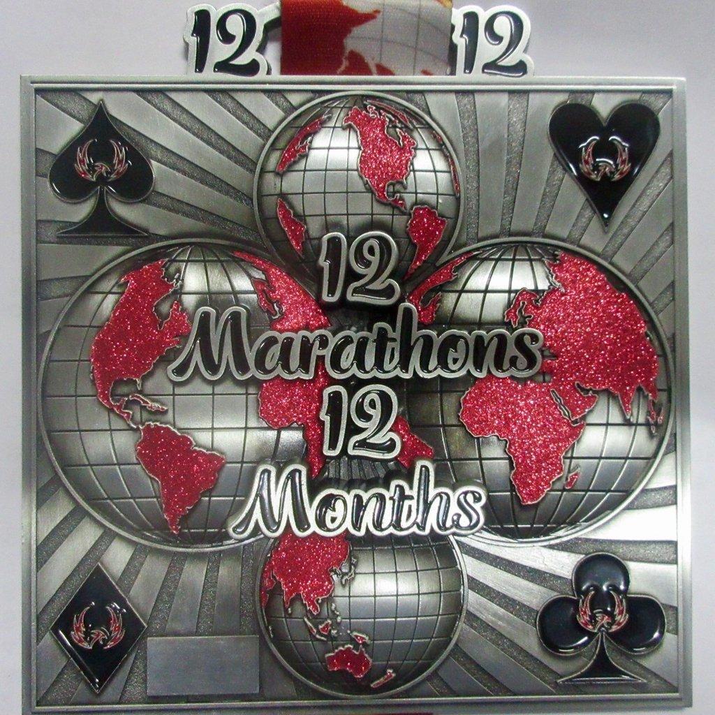 12 Marathons in 12 Months - Medal & Certificate
