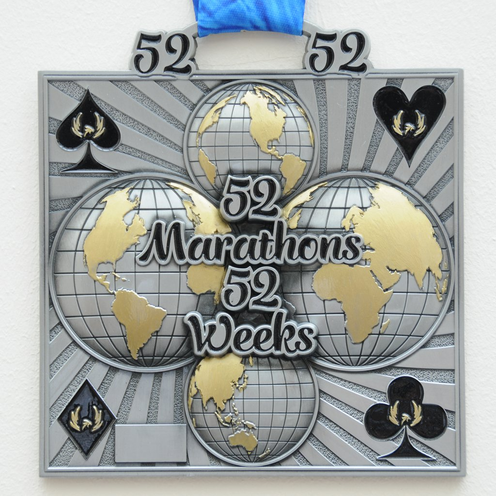 52 Marathons in 52 Weeks - Medal & Certificate